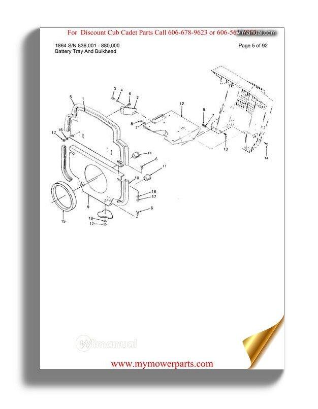 Cub Cadet Parts Manual For Model 1615