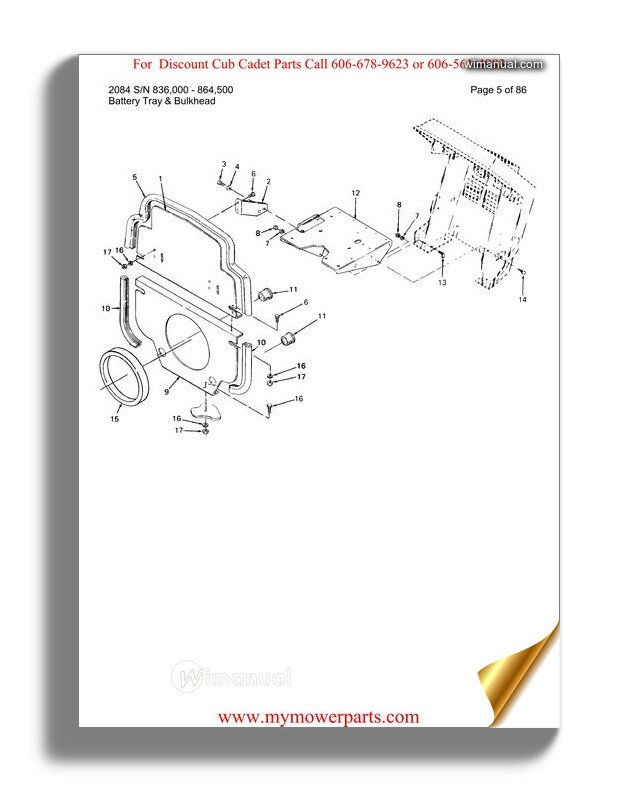 Cub Cadet Parts Manual For Model 1641 Sn 821060 880000