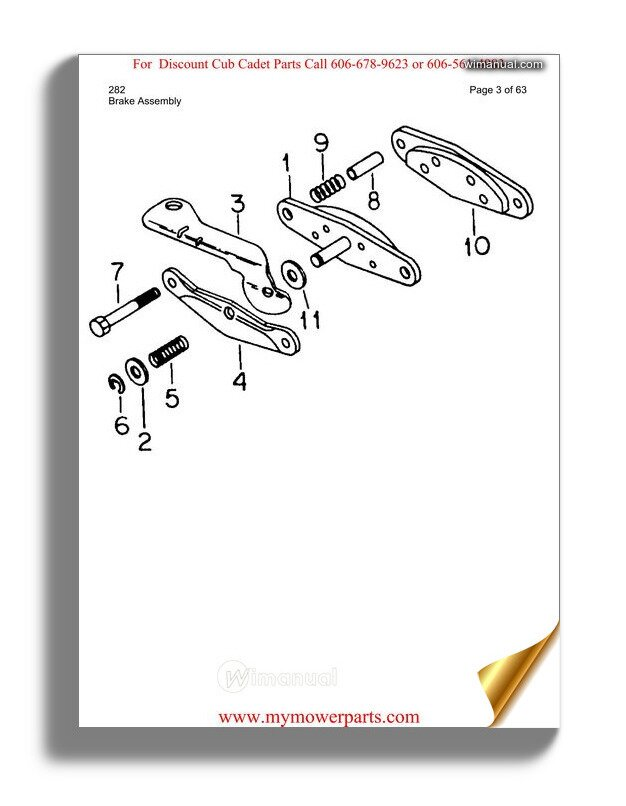 Cub Cadet Parts Manual For Model 282