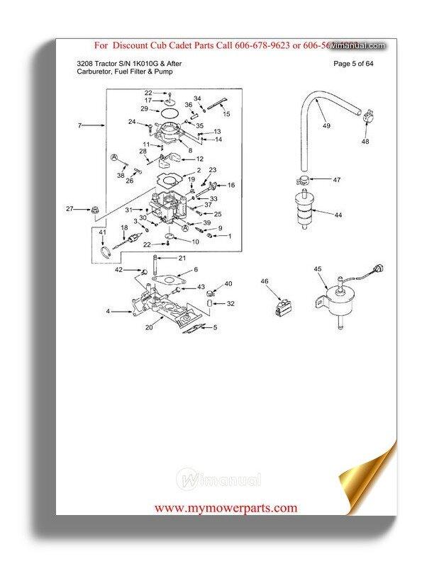 Cub Cadet Parts Manual For Model 2185 Tractor Sn 239001 326005