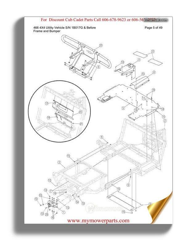 Cub Cadet Parts Manual For Model 430 4x2 Utility Vehicle