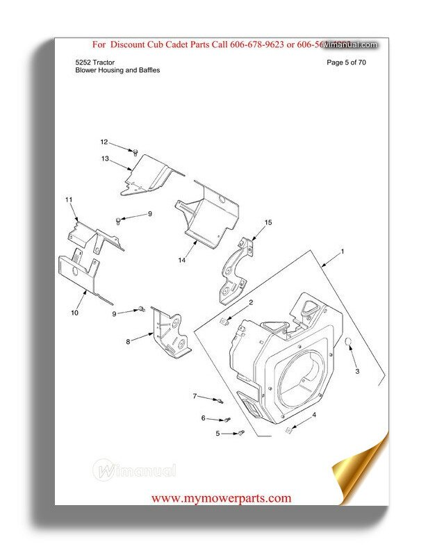 Cub Cadet Parts Manual For Model 466 4x4 Utility Vehicle