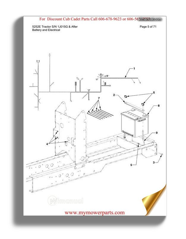 Cub Cadet Parts Manual For Model 466 4x4 Utility Vehicle