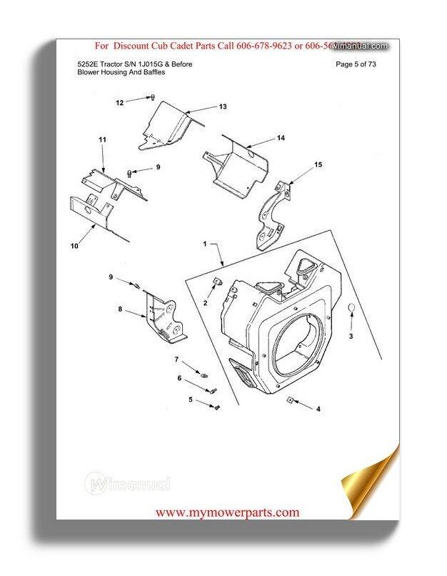Cub Cadet Parts Manual For Model 466 Diesel 4x4 Sn 1b017g