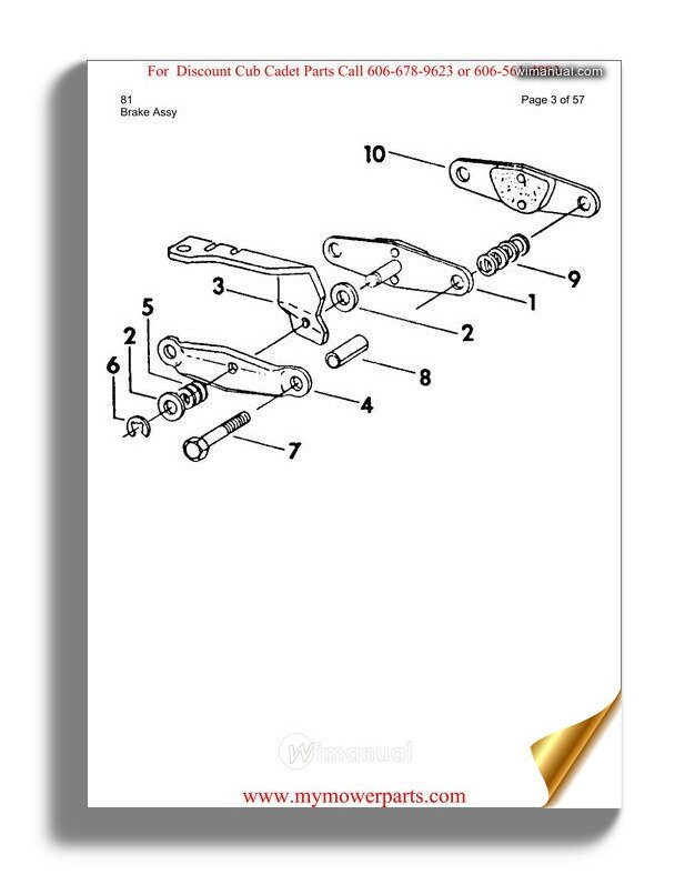 Cub Cadet Parts Manual For Model 81