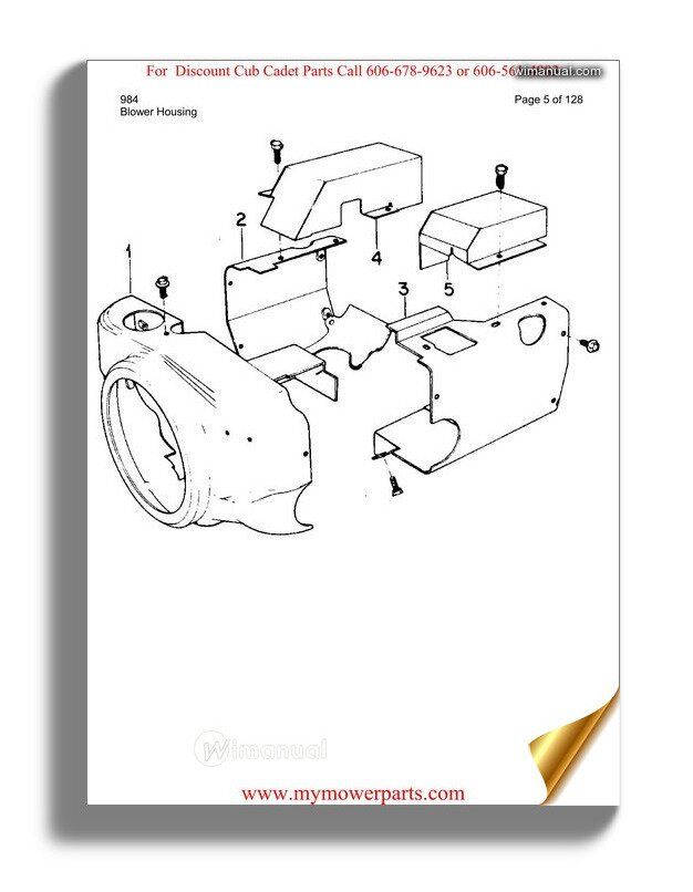 Cub Cadet Parts Manual For Model 7200 Tractor