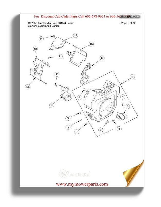 Cub Cadet Parts Manual For Model 7304 Tractor