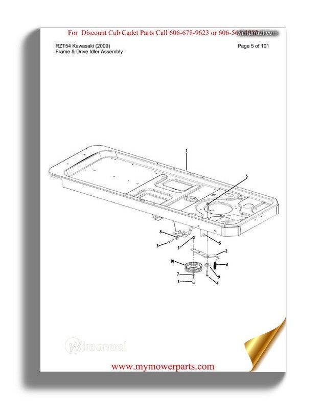 Cub Cadet Parts Manual For Model 7233 Tractor