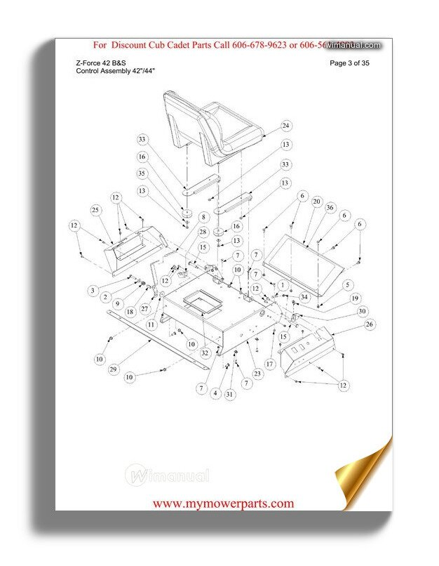 Cub Cadet Parts Manual For Model Z Force 42 Bands