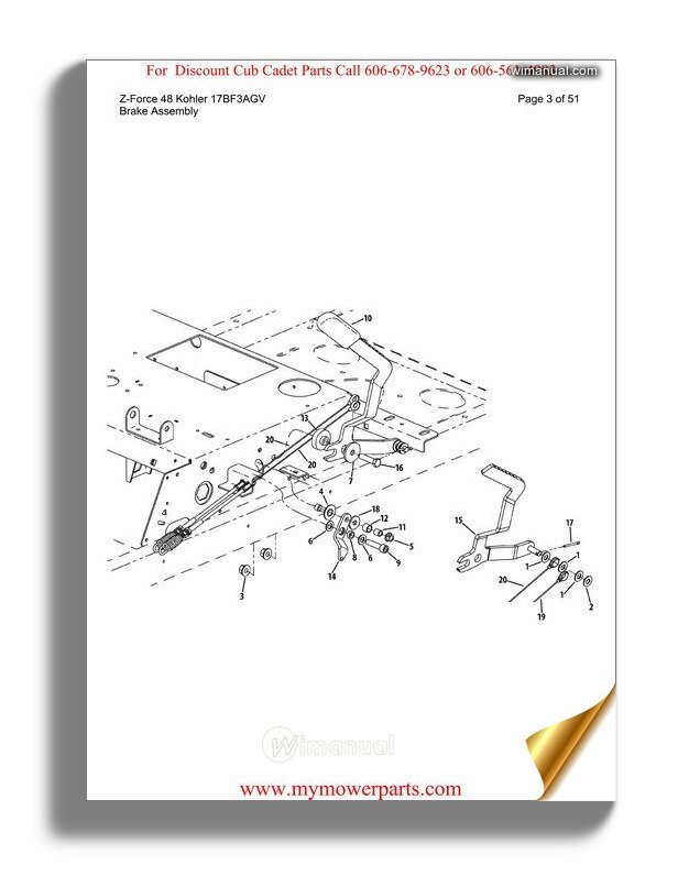 Cub Cadet Parts Manual For Model Z Force 48 Kohler 17bf3agv
