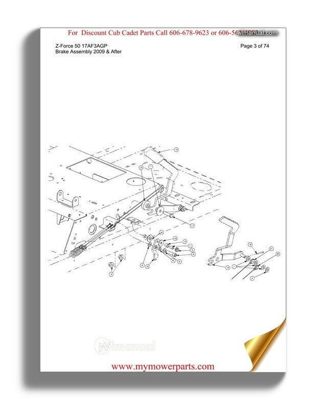 Cub Cadet Parts Manual For Model Z Force 50 17af3agp