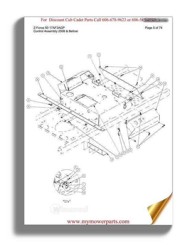 Cub Cadet Parts Manual For Model Rzt50 Kawasaki 17ai2acp