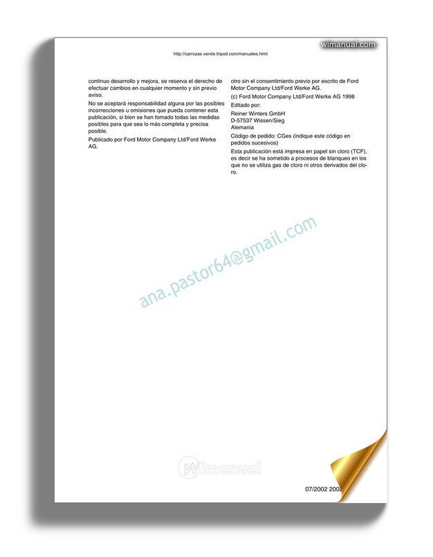 Ford Fiesta 2002 2007 Service Manual