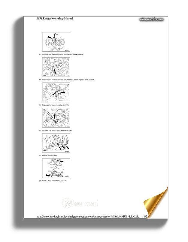 Ford Ranger Intake Manifold 1998 Workshop Manual