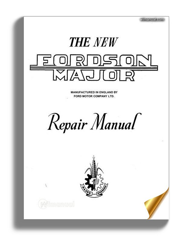 Ford Son Major Repair Manual 1952-1958