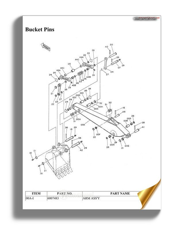 Hitachi Zx160 Parts Book