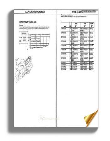 Honda Cbr1100xx 97 02 Parts Manual