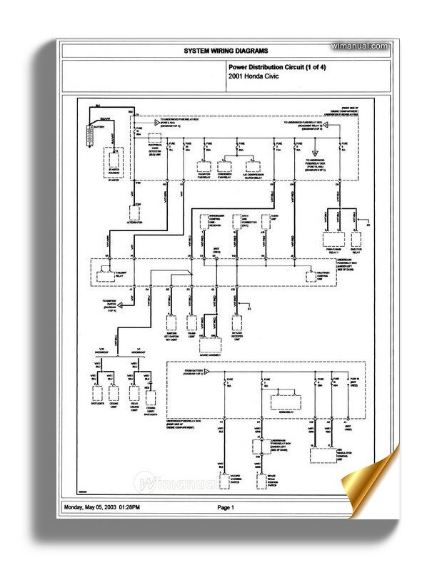2001 honda civic wiring diagram  wiring diagrams database