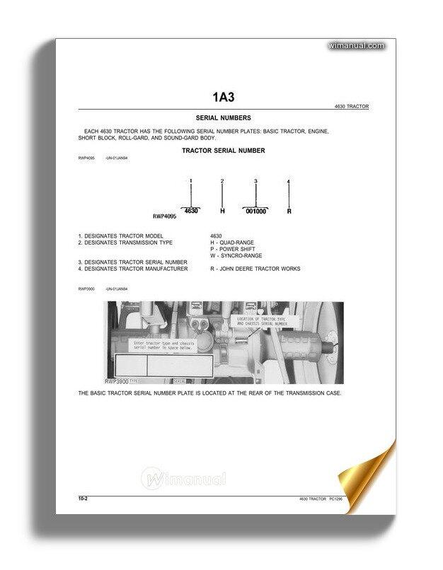 John Deere 4630 Wiring Diagrams John Deere 4630 Tractor Parts Catalog