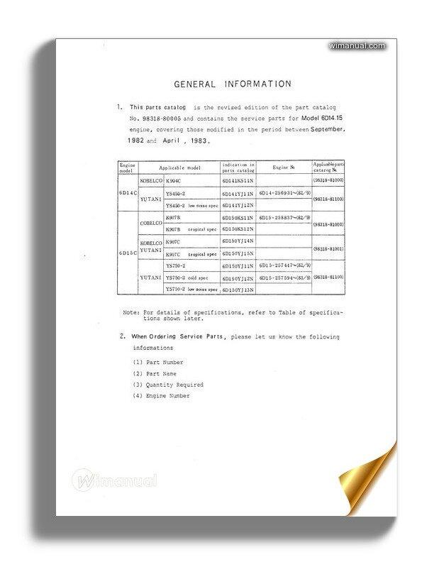 Kobelco 6d14 15 Mitsu Diesel Engine For K904c K907b K907c