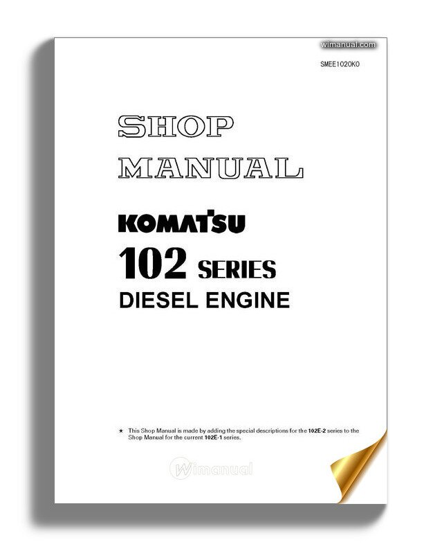 Komatsu Engine 6d102 Series Workshop Manuals