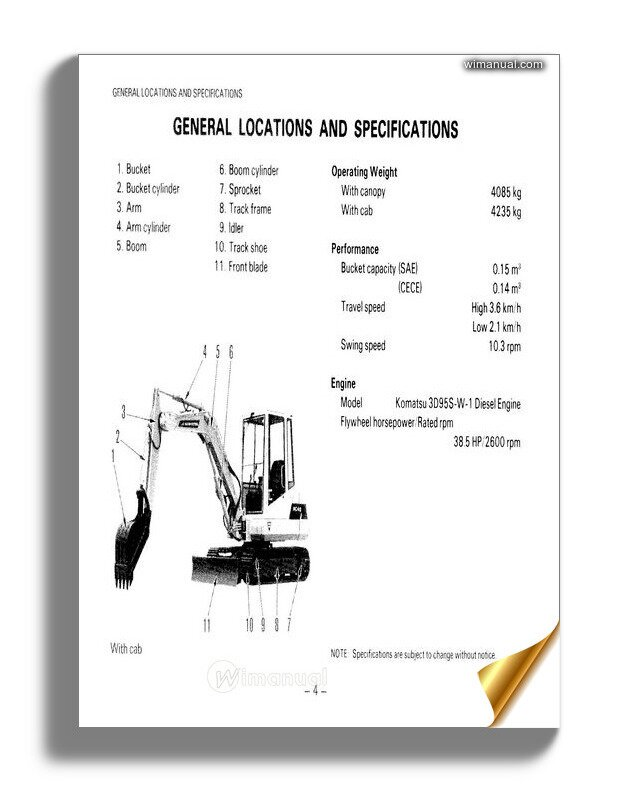 Komatsu Hydraulic Excavator Pc160 Pc180lc Pc180nlc Pc200en