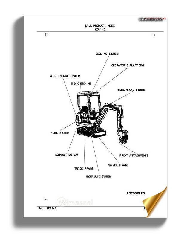 Kubota Kx41 2 Parts Manual