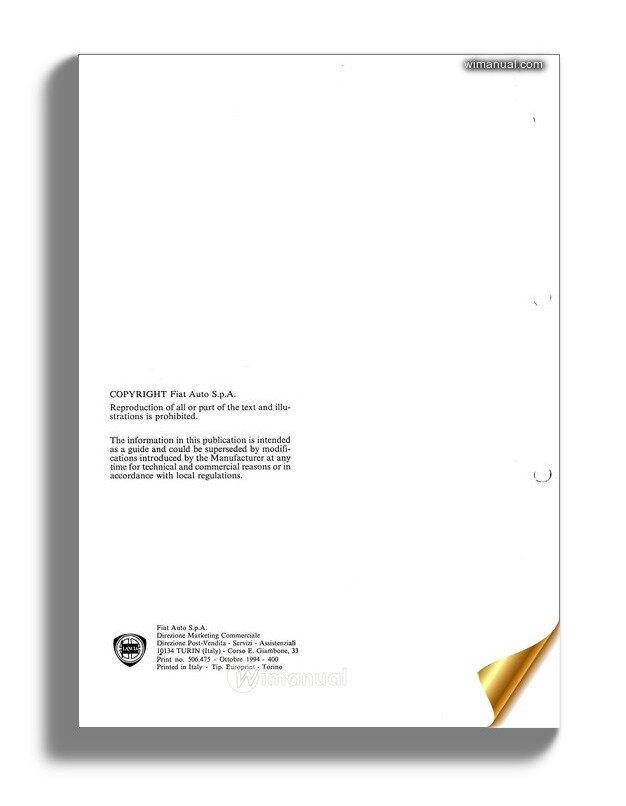 Lancia Kappa Workshop Service Manual 2nd Volumes