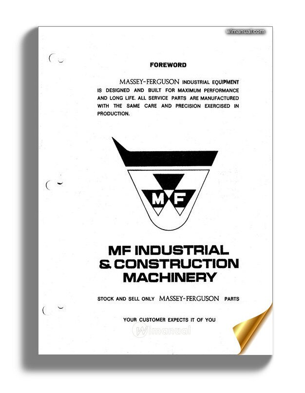 Massey Ferguson Mf400 Pm 1436 367 M1 Parts Book