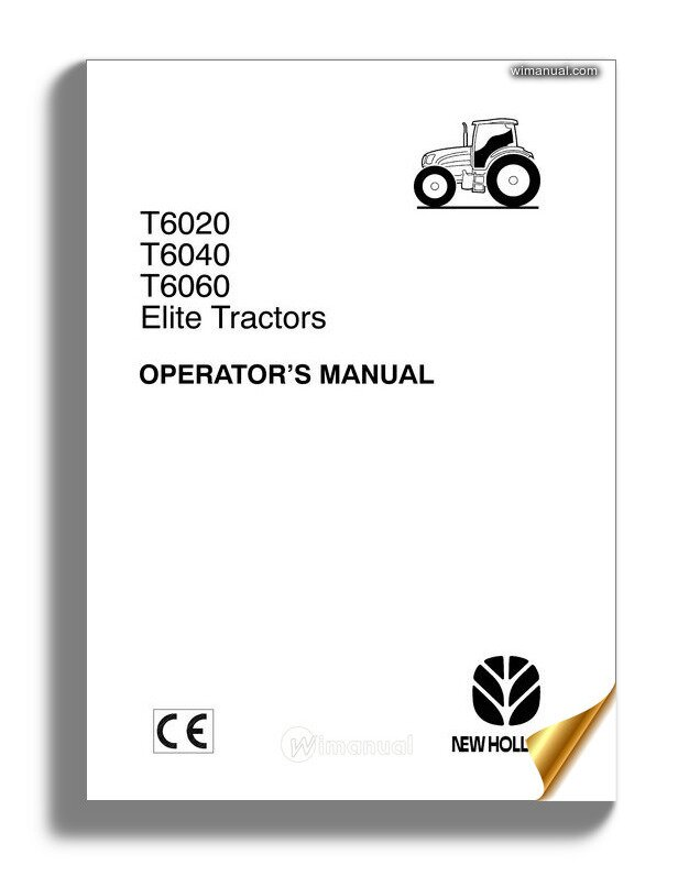 New Holland Serie T6000 Elite Operator Manual