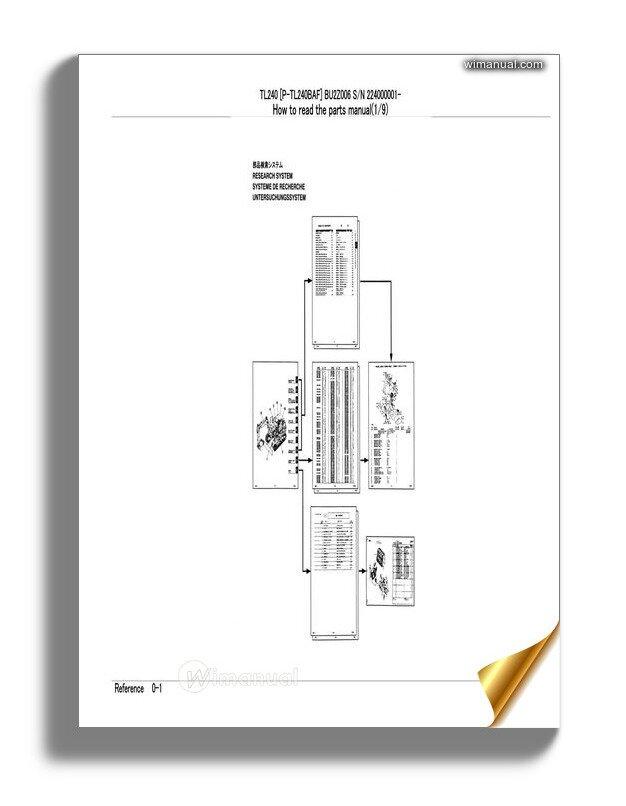 Takeuchi Track Loader P Tl240baf Parts Manual