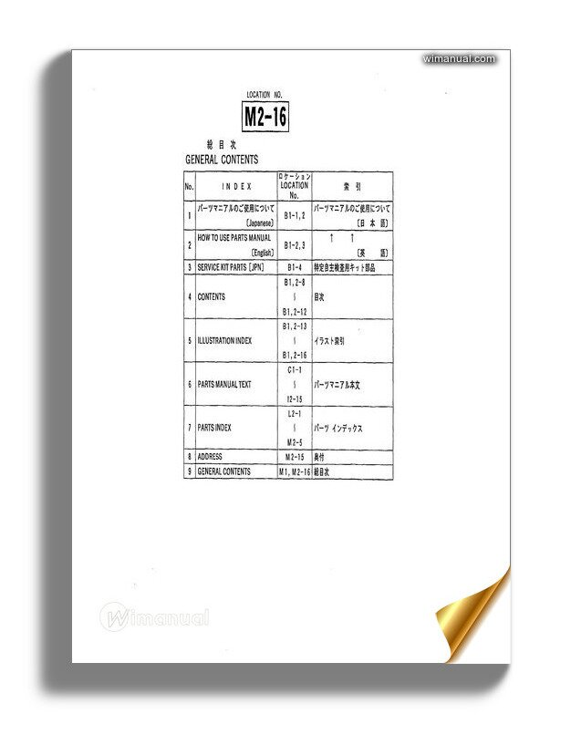 Tcm Forklift Truck Fb20 6 Fhb25 6 Parts Manual