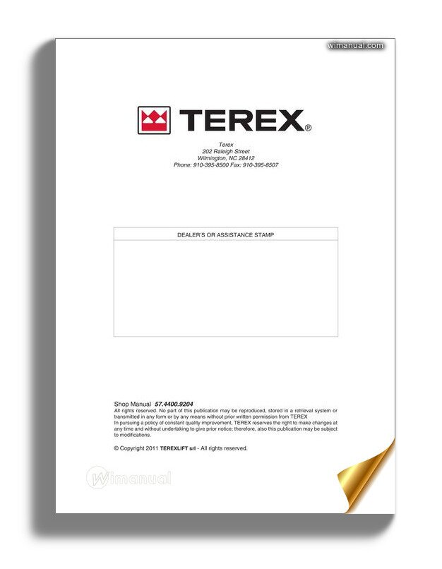 Terex Forklift Tx51 19md Service Manual