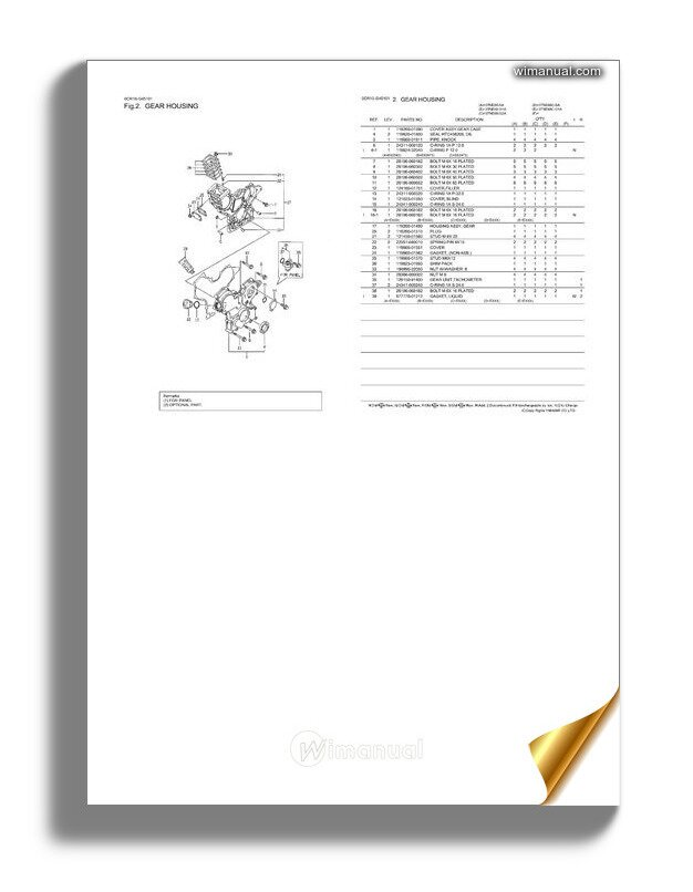 Yanmar 3tne74 G1a Engine Parts Catalog