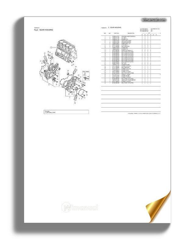 Yanmar 4tne106t G1a Engine Parts Catalog