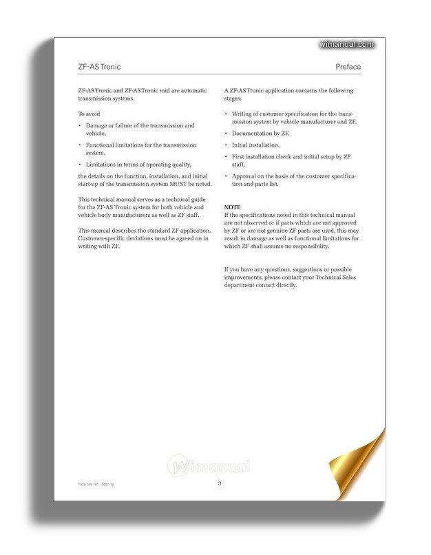 Zf As Tronic Technical Manual-12z17458