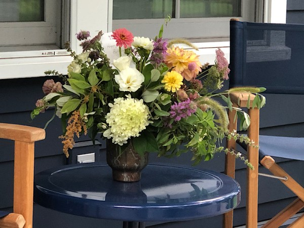 Flower arrangement for delivery from Wimbee Creek Farm.