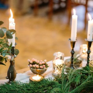 Tablescape for a holiday dinner
