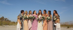 Gathering on the beach after the wedding ceremony to share a bit of happiness!