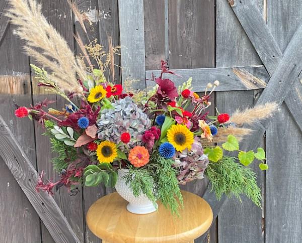 summer flowers on Wimbee Creek Farm