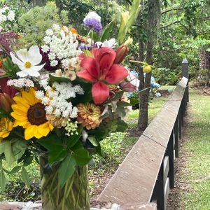 flowers from Wimbee Creek Farm in Beaufort, SC