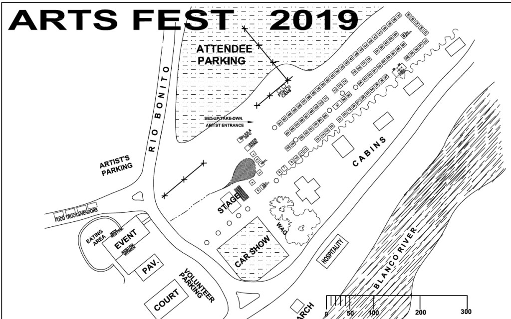 Event Map of Wimberley Arts Fest