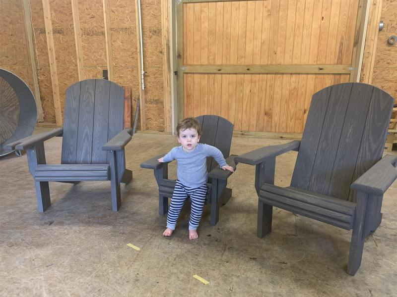 "2x Adult Adirondack Chair, x1 Youth ""Lily"" Chair – Bundle"
