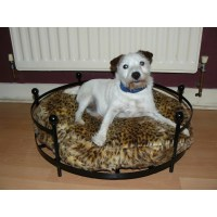 Dog or cat bed round wrought iron