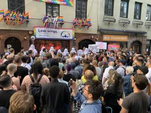 Demonstration vor dem Stonewall Inn