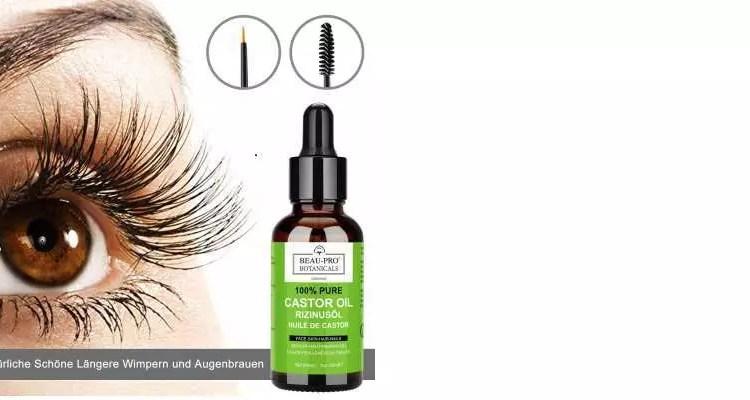 Rizinusöl Augenbrauen Wimpern