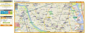 土地総合情報システムでマンションの価格を調べたときの検索結果画面