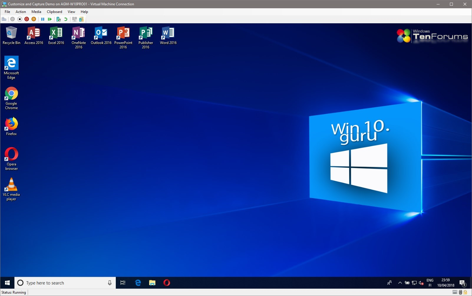 Windows 10 Unattended install media – Part 4: Customize Windows