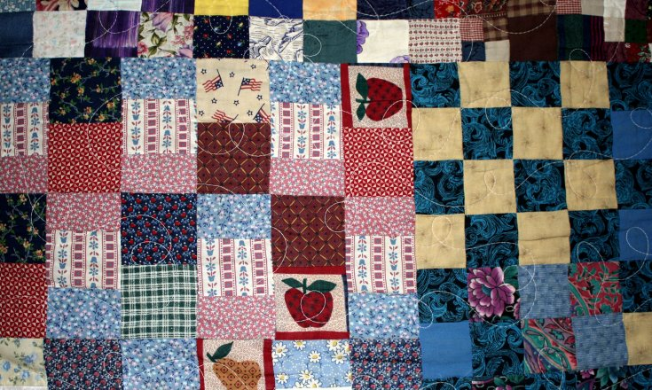Patchwork quilt photo
