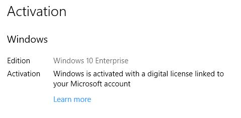 GatherOSState.exe Provides Win10 License Info for Clean Install.activated